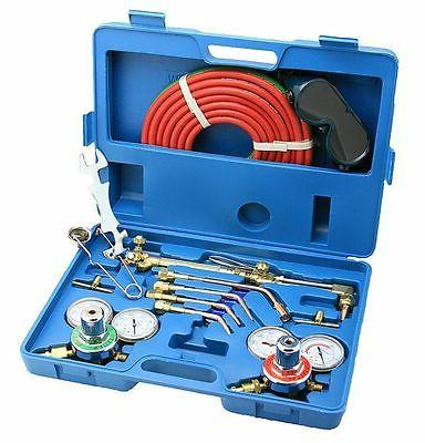 Gas Kit Torch Acetylene Regulator Portable Case