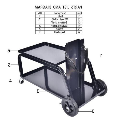 AAIN Heavy MIG Welding Welder Trolley Cutter Bench Storage