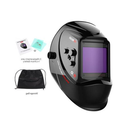 Large View Color Mask Auto-Darkening Helmet
