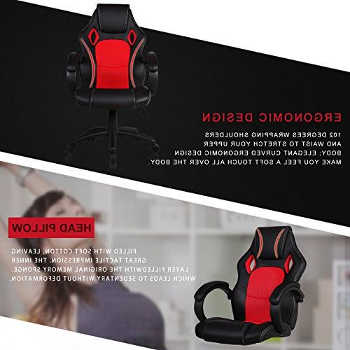 Mecor Ergonomic Chair, Executive Swivel Desk Chair Racing Style Gaming Chair and
