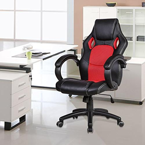 Mecor Chair, Swivel Desk Chair Racing Style Gaming Chair and Office,Red
