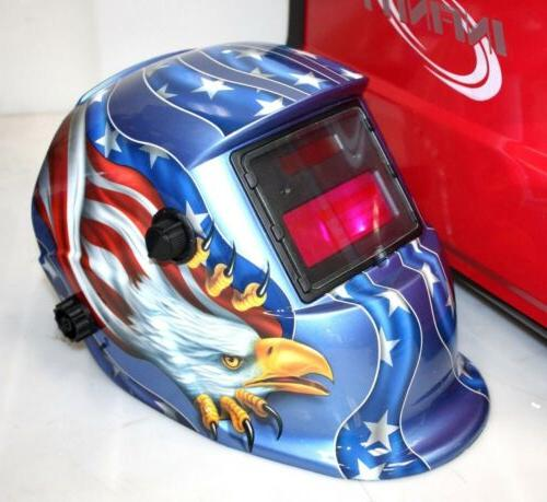 MIG-130 Auto Wire Welder & US Eagle Helmet
