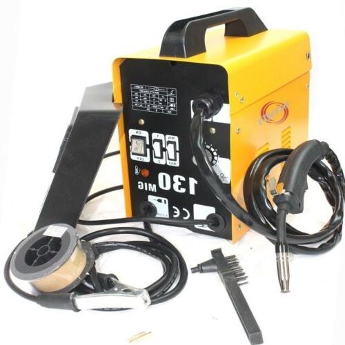MIG-130 Flux Wire Welder Machine & Eagle Helmet