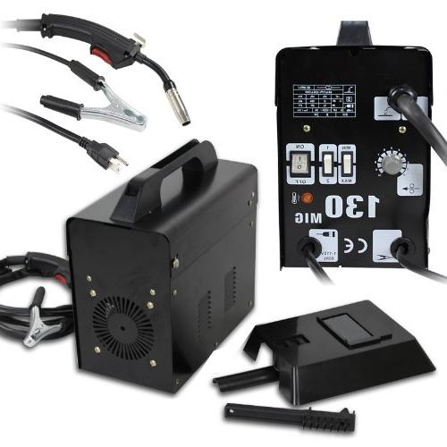 ZENY MIG130 Gas-Less Core Automatic Feed Welder Welding Machine Mask AMP Commercial -