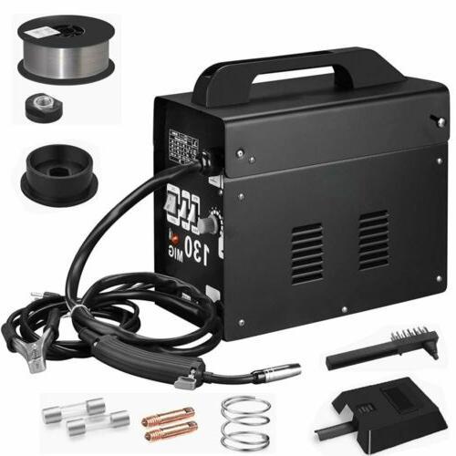 Portable Flux Core Wire Gas Gasless MIG 130 Amp Welder Machi