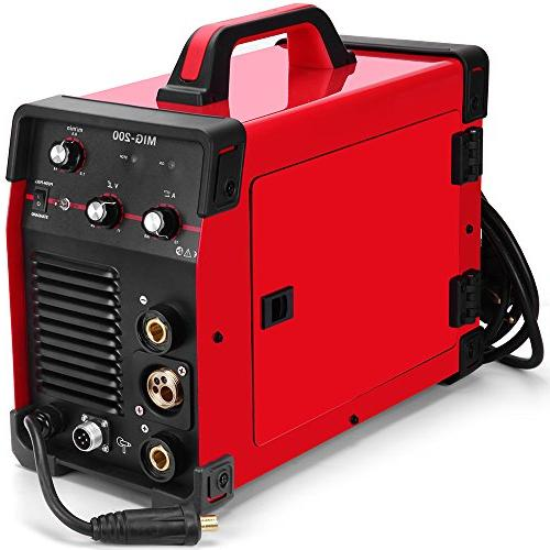 SUNGOLDPOWER 200 Amp MAG Arc Multifunction DC Welder Dual Voltage Welding Soldering Shielded/Gasless Automatic