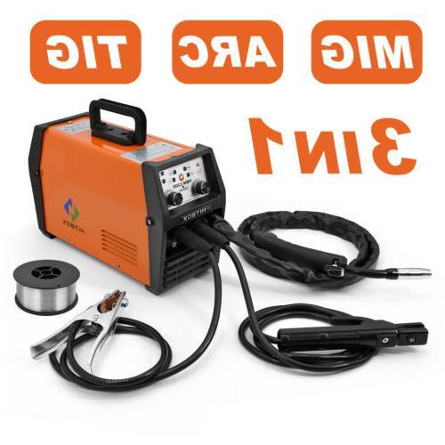 HITBOX 3 in1 MIG Welder Inverter 220V Lift TIG ARC Wire Gasl