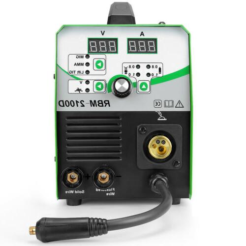 MIG TIG 210 Welder Gas/Gasless 110V/220V 4-in-1 Welding Equi