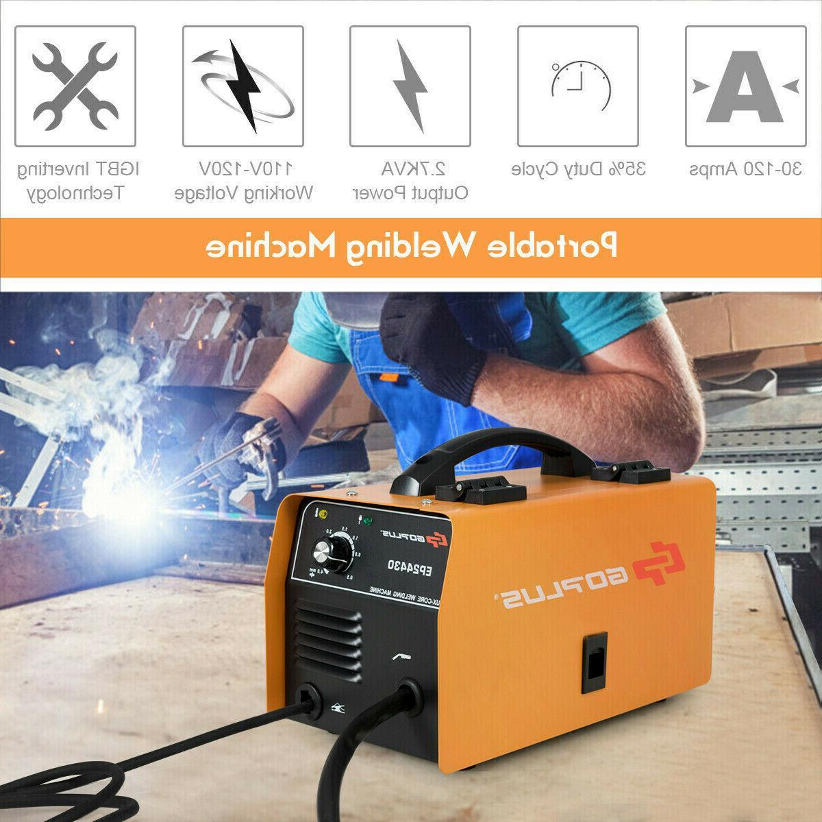 130 Flux Core Welding Machine Free Orange