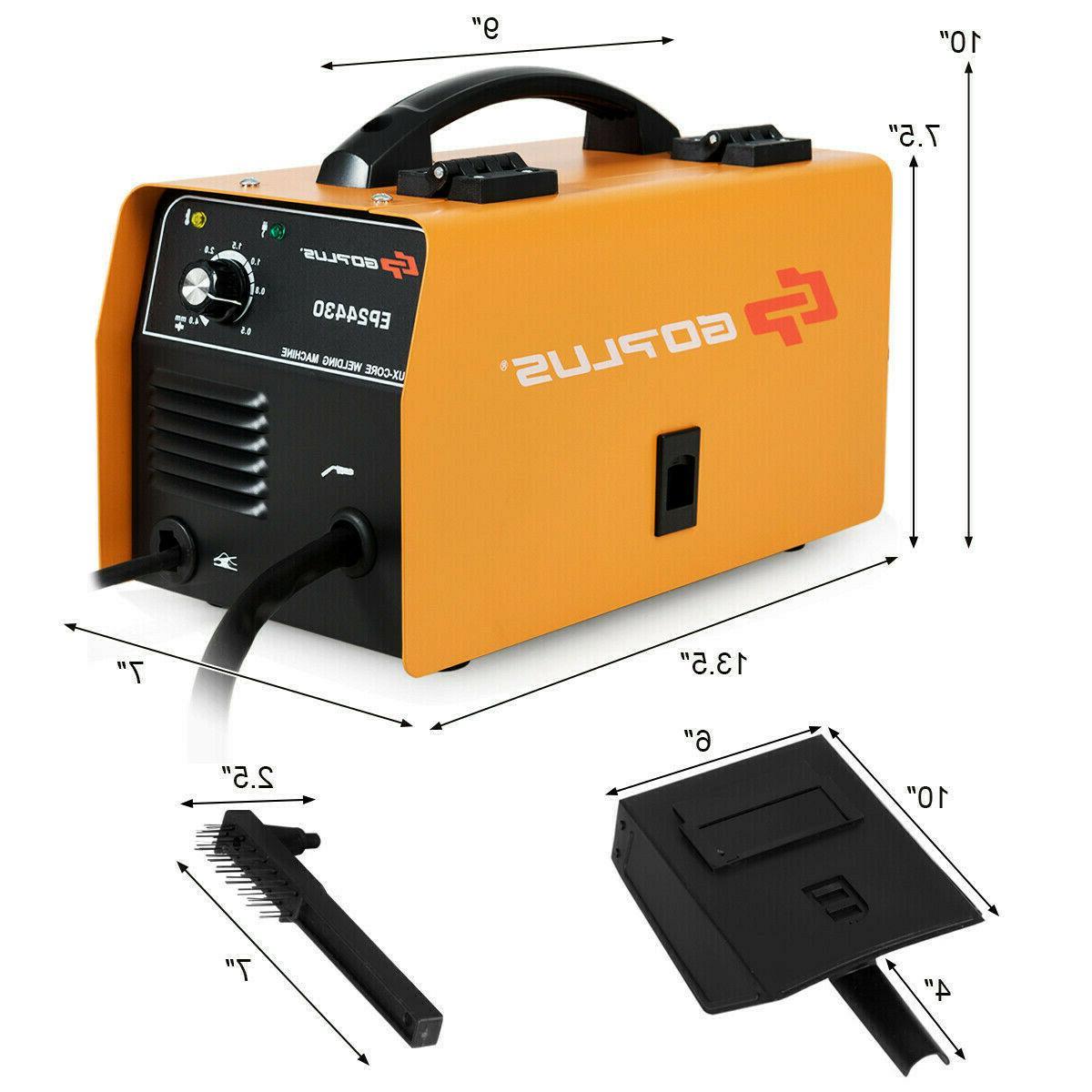 130 MIG Flux Core Automatic Welding Machine Free Orange
