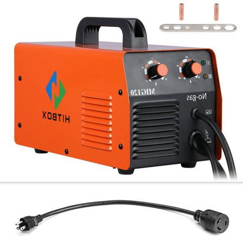 HITBOX Portable IGBT Inverter MIG Welder 110V 220V DC MIG We
