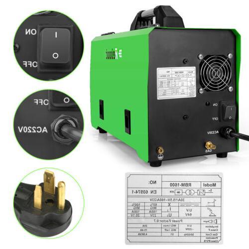 MIG Welder IGBT Inverter Flux Core Wire Gasless/Gas 4 in 1 Welding