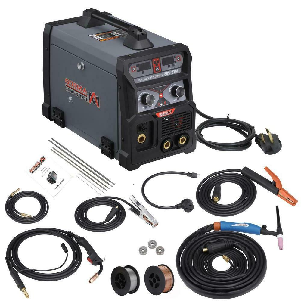 MTS-205, 205 Amp MIG/TIG/Stick Arc 3-IN-1 MIG-Weld New