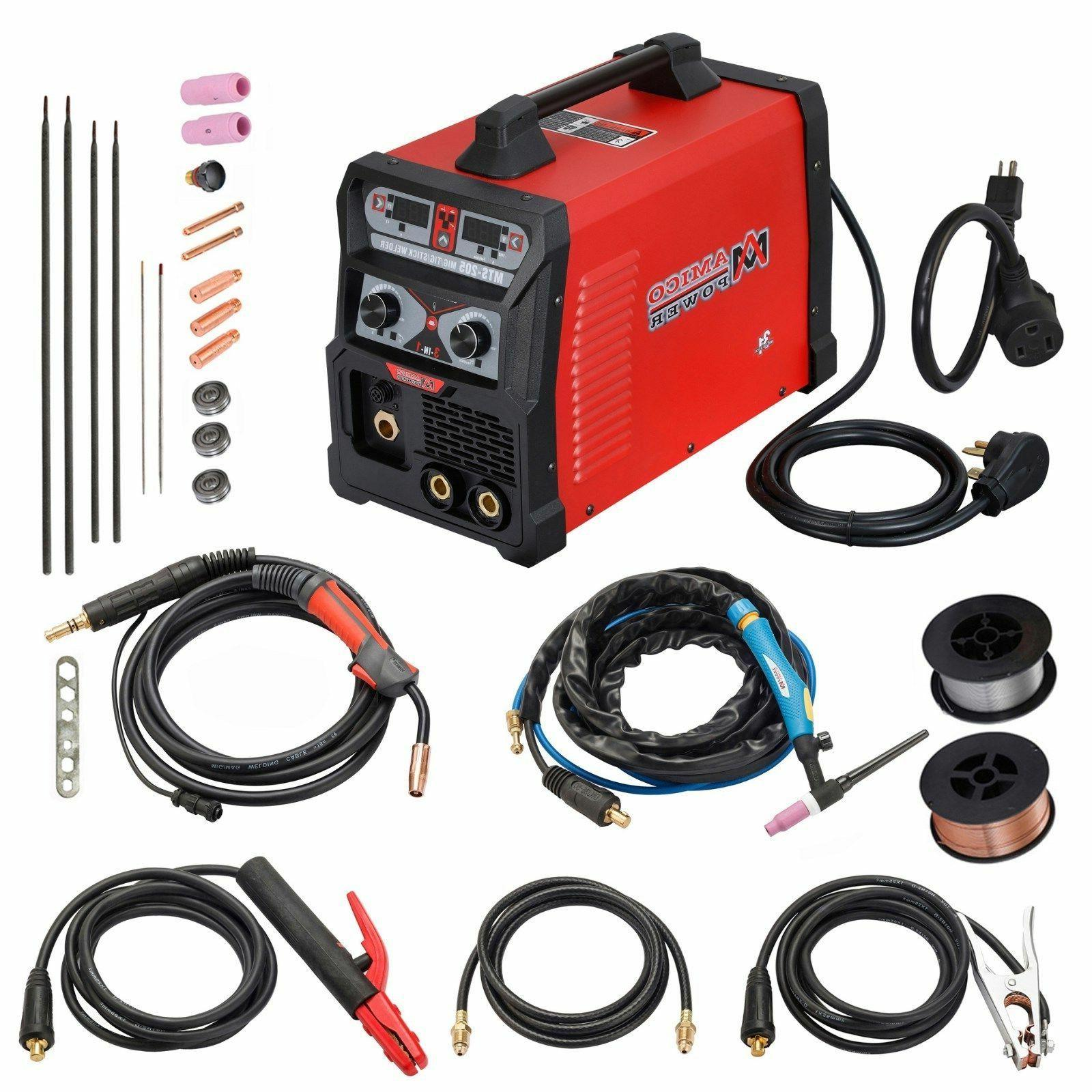 MTS-205, MIG/TIG/Stick Arc 3-IN-1 Combo