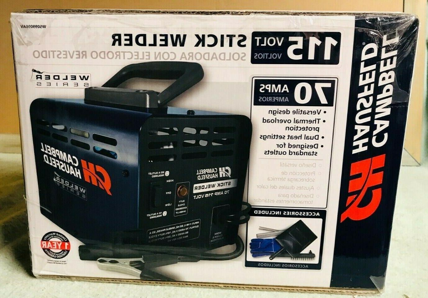 new ws09908av 115v 70 amp stick welder