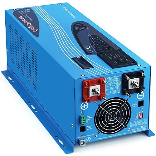 SUNGOLDPOWER 3000W Peak 9000W Pure Sine Power Inverter 110V Battery AC Charger LCD Low BTS+Remote Control