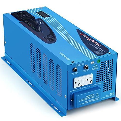 SUNGOLDPOWER 3000W Pure Sine Wave Inverter 110V Battery Charger 90A LCD Display Low Frequency Solar BTS+Remote