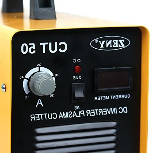 ZENY DC Plasma Cutter 50AMP Dual Voltage 110-220V Cutting