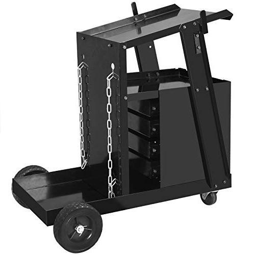 ZENY Cabinet Trolley Heavy Workshop Organizer Universal W/Tank Safety Chains
