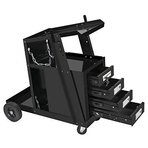 portable welding welder cart mig