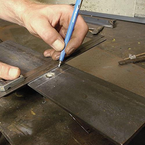 Silver-Streak Fineline Metal Markers - silver round w/refill