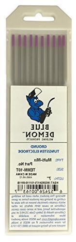"""Blue Demon TEMM X 1/8"""" X 7"""" Tungsten Electrode, 3-Pack"""