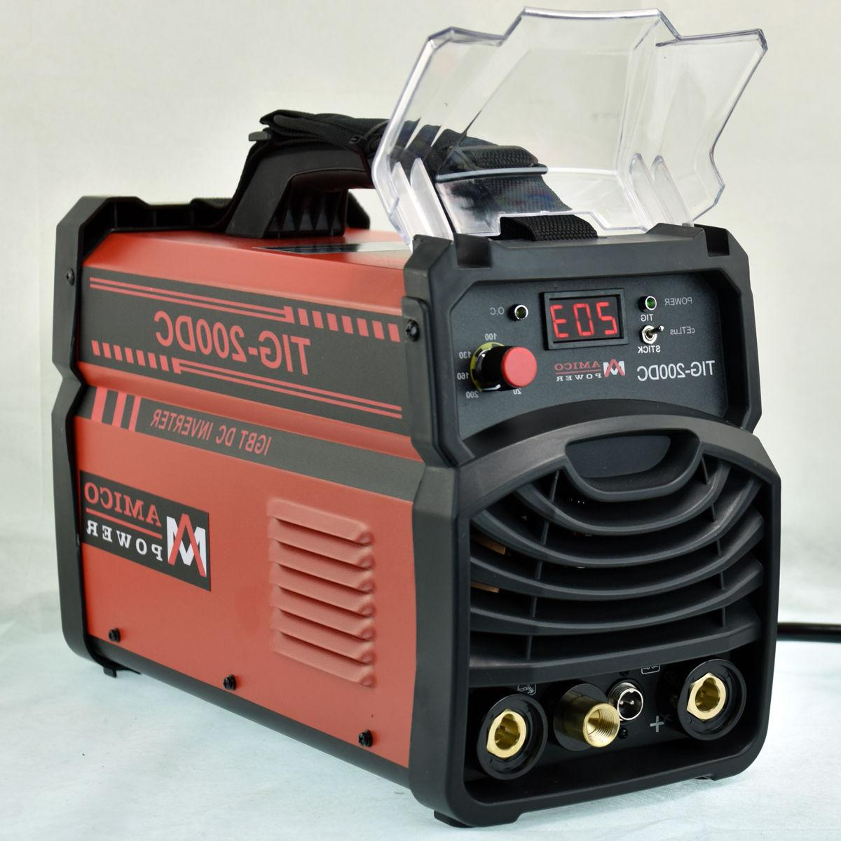 TIG-205HF, 205 Torch Stick Arc Inverter 100~250V Voltage