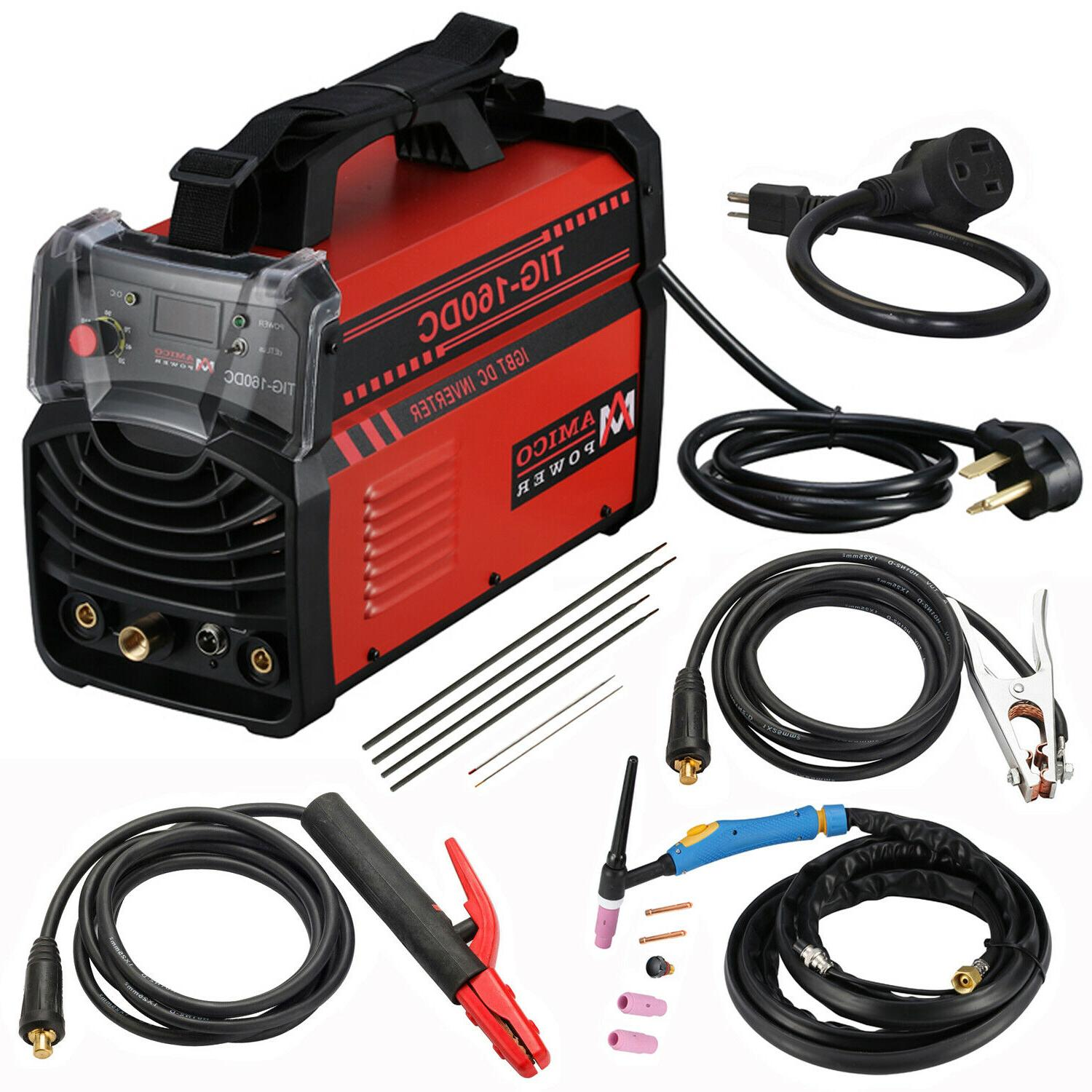 TIG-160 Amp TIG Torch Stick Arc MMA DC Inverter Welder, 110V