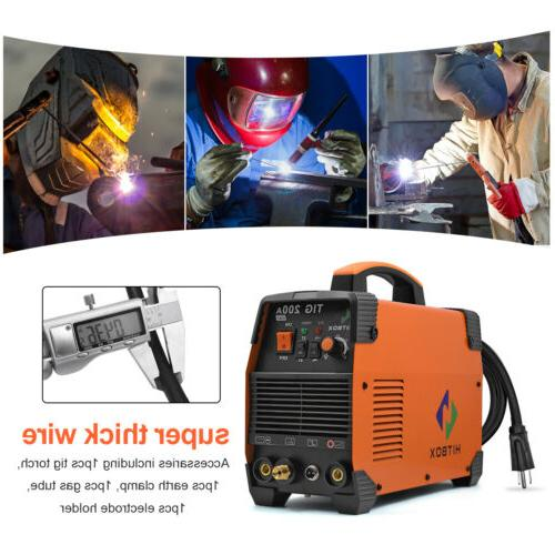 HITBOX TIG Welder Dual High Frequency TIG200A Welding