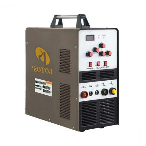 LOTOS 200A Aluminum Tig/Stick Welder Square Wave Inverter Pedal