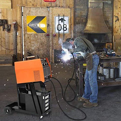 COSTWAY VD-30207TL Welder Cart TIG Plasma Cutter w/2 Lb Portable ,