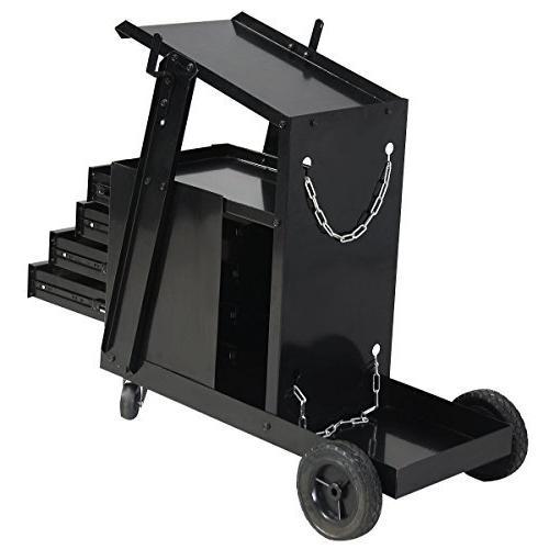 Goplus Welding Cutter Storage w/2 Safety Capacity,