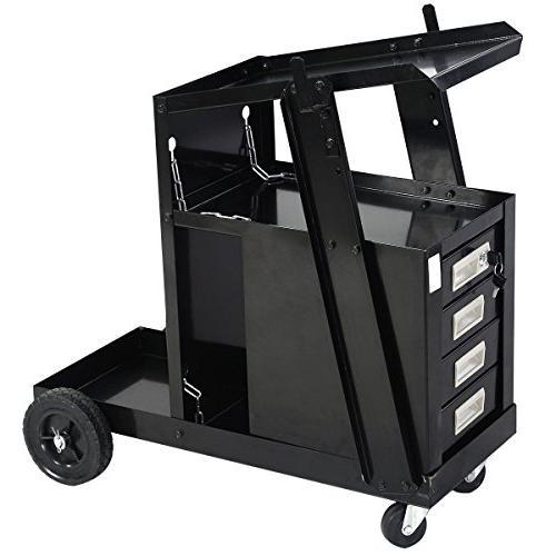 Goplus Welding Cart MIG TIG Cutter Tank Safety Chains, 100