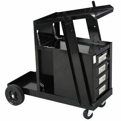 Goplus Welder MIG TIG Cutter w/2 Safety Chains, 100 Lb Capacity, Portable