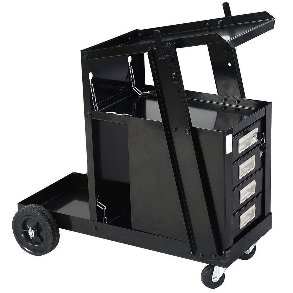 Welding Cart TIG ARC Plasma Cutter Tank 4 Drawer Cabinet