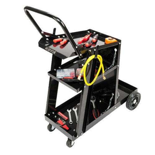 3 Level Welder Welding Cart Plasma Cutter MIG TIG ARC Tank S