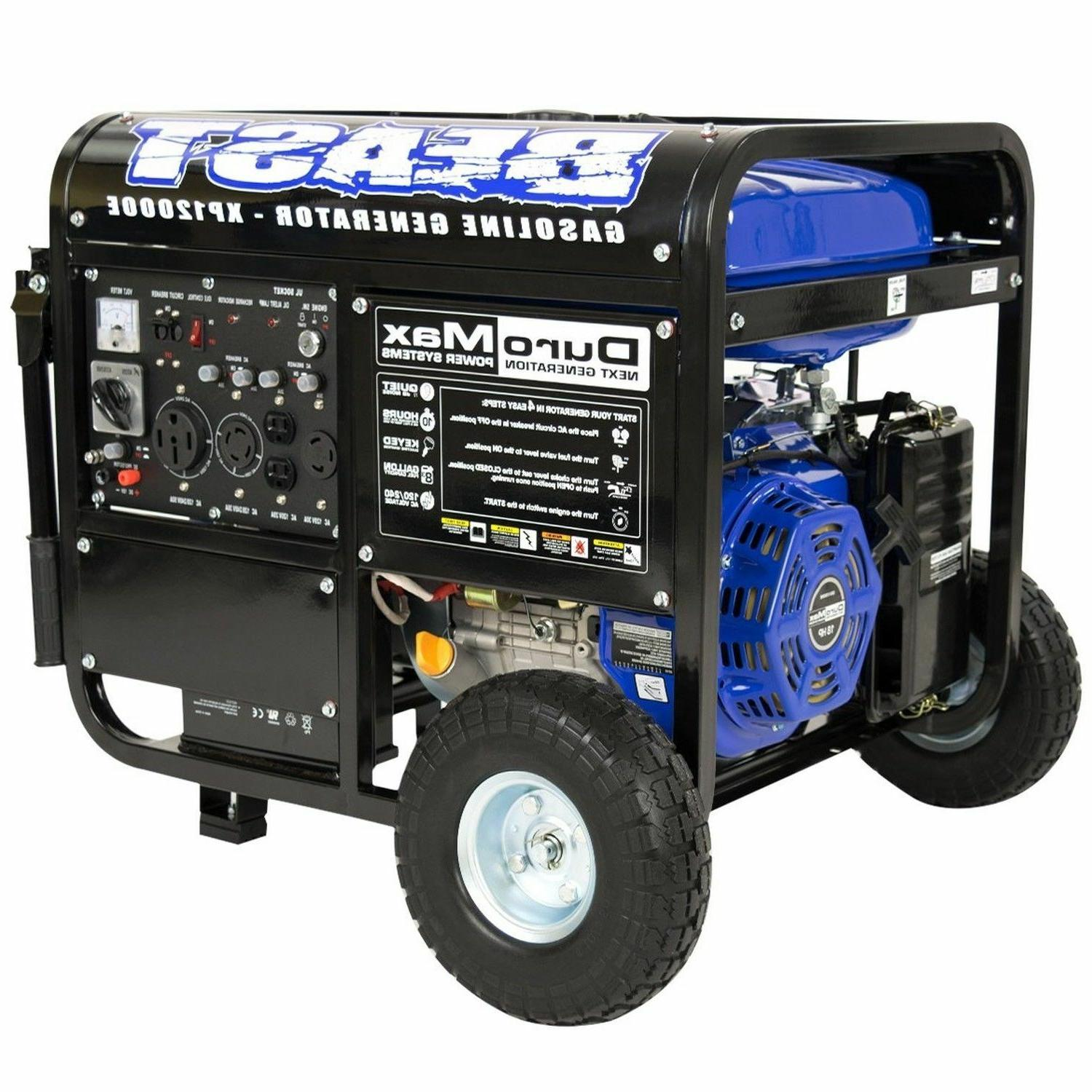 DuroMax 12000 Portable Gas Generator Standby BEAST