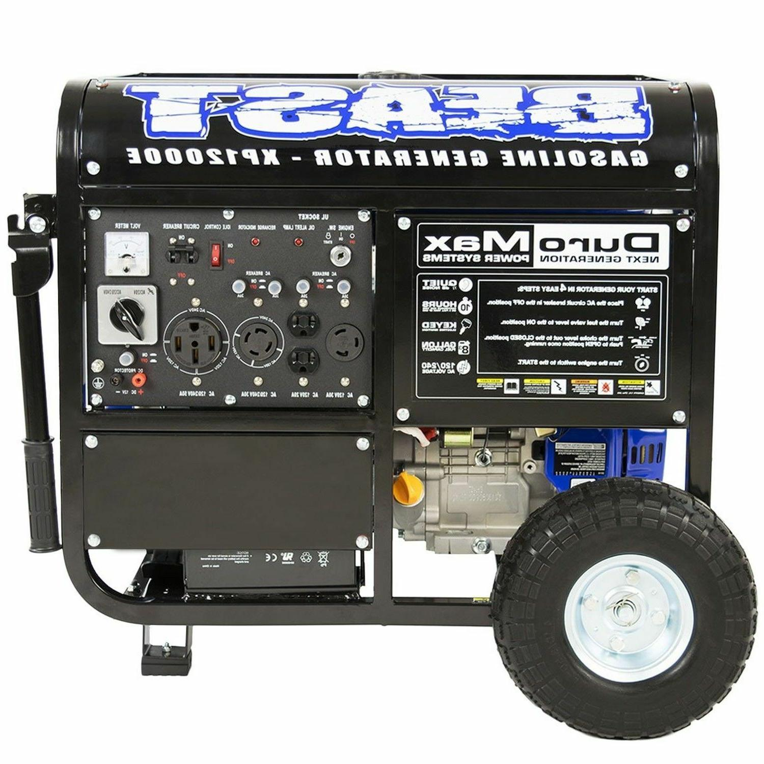 xp12000e 12000 watt portable gas electric start