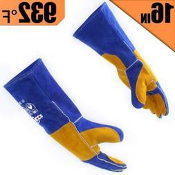 RAPICCA Leather Welding Gloves 662°F Heat/Fire Resistant, M