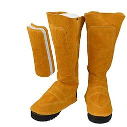"""11"""" Long Cowhide Leather Shoe Protector, Heat and Abrasion R"""