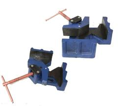 """LOT OF TWO  2-1/2"""" JAW WELDER WELDING MOLDING 90° ANGLE COR"""