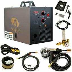 LOTOS MIG175 175AMP Mig Welder with Free Spool Gun, Mask, Al