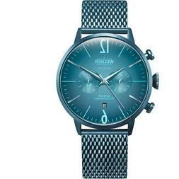 Welder Men's Breezy 45mm Blue Steel Bracelet & Case Quartz W