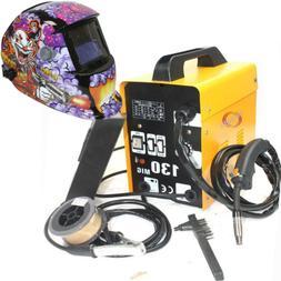 MIG-130 Flux Core Auto Wire Welder Machine w/Cooling & US Ea