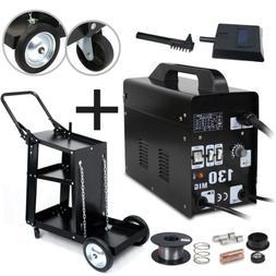 MIG-130 Flux Core Wire Gasless Welder Machine w/Mask & Acces