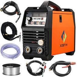 MIG Welder 200AMP 220V DC Flux Core Wire Lift Tig ARC Gas &
