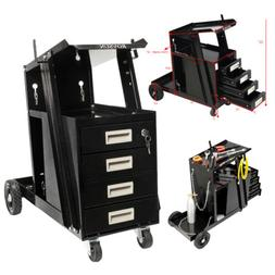 New 4 Drawer Welding Welder Cart Plasma Cutter Tank Storage