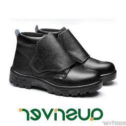 New Men Suede Work Boots Safety Welding Steel Toe Cap Welder
