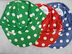 NWT Comeaux Caps 1 STIFF BRIM Welders Welding hats Polka Dot