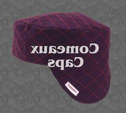 NWT Comeaux Welding Caps Welders Hats Black Quilted with Red